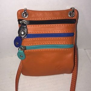 Cute Leather Vera Pelle Crossbody Pouch